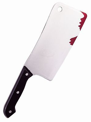Bloody Knife (Plastic Bloody Cleaver Butcher Knife Prop 12 Inches)