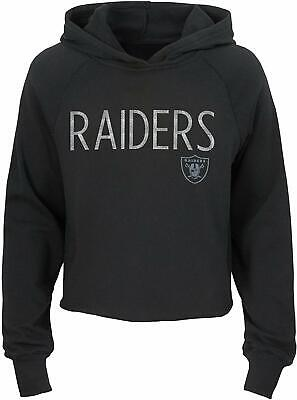 Outerstuff NFL Football Girls Oakland Raiders Iced Out Long Sleeve Hoodie Iced Out Football
