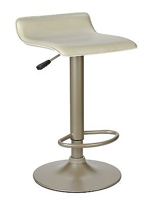 Single Airlift Swivel Stool with Beige PVC Seat-Winsome New