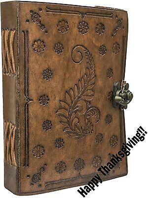 Leather Travel Journal Handmade Vintage Writing Bound Notebook For Men Women