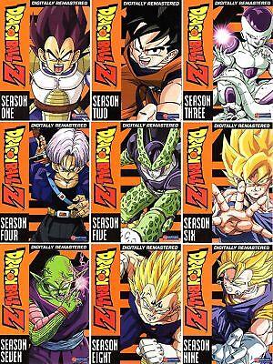 Dragon Ball Z The Complete Uncut Series Season 1 9 Dragonball 1 2 3 4 5 6 7 8 9