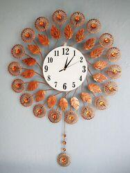 36Tall Oversized Metal Sunburst Solar Radiance Contemporary Wall Clock Decor