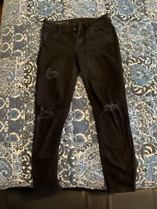 Armani Exchange Black distressed ankle Jeans