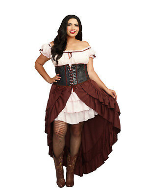 Wild West Wench Saloon Girl Brothel Madame Cantina Bar Maid Renaissance Pirate