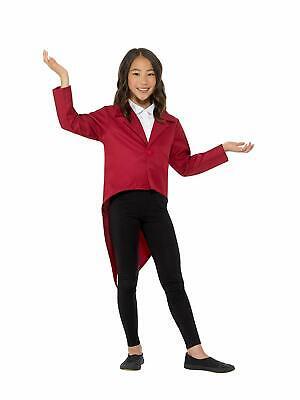 Red Tailcoat Jacket Dance Show Jazz Child Ringmaster Performing Accessory Medium