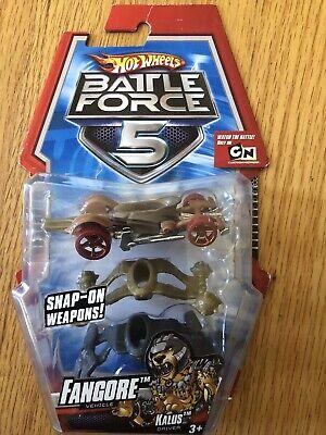 Hot Wheels Battle Force 5 Fangore Snap-on Weapons Die-Cast Car - NEW