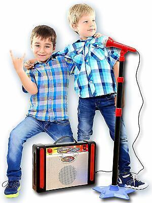 IQ Toys Kids Karaoke Machine; Adjustable Microphone Stand & Speaker