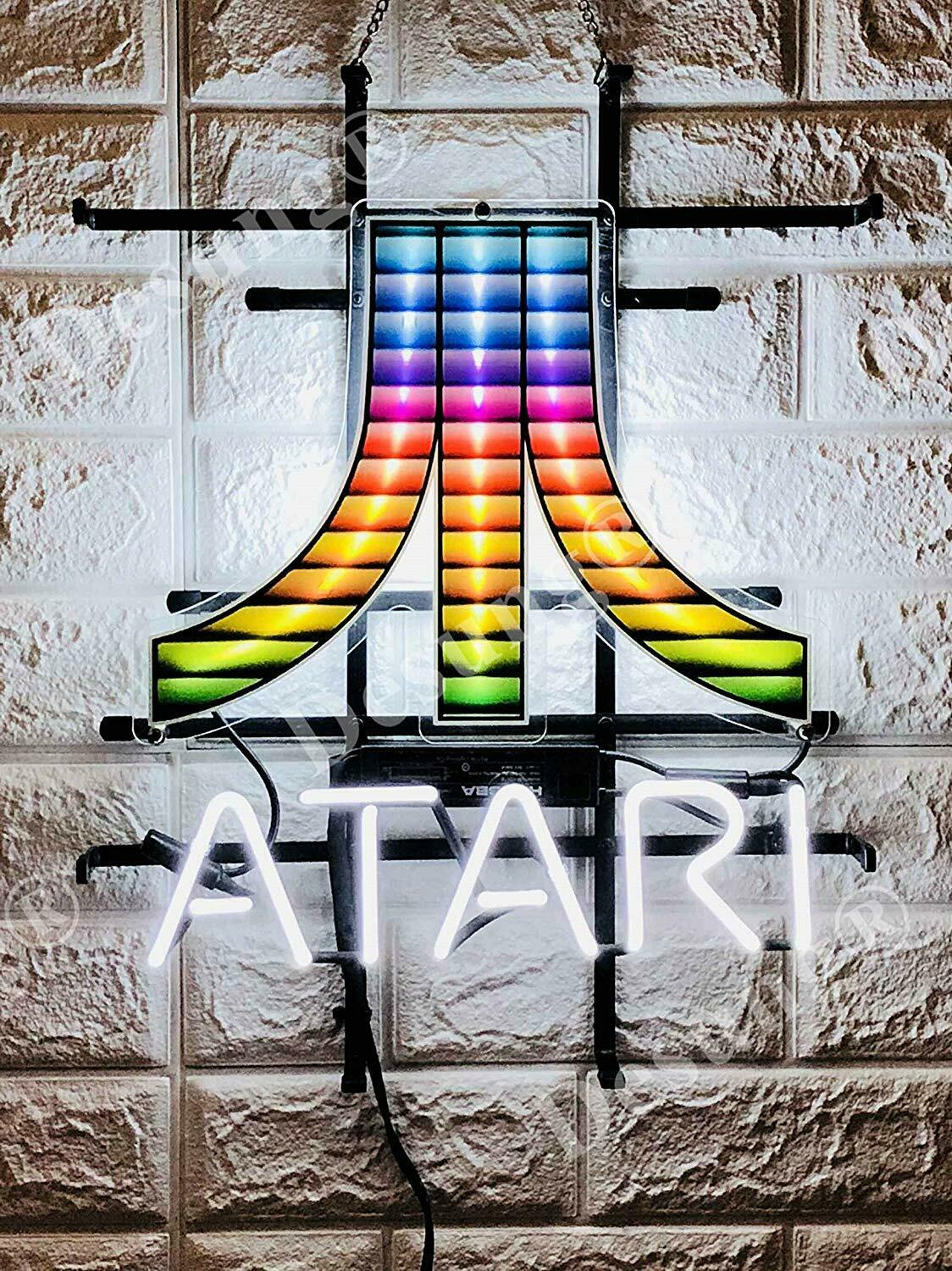 "New Atari Arcade Video Game Room Beer Neon Light Sign 20""x16"