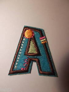 FABRIC Iron On LETTERS Embroidered Applique Motif on Colourful Felt Alphabet