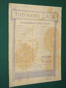 Partition Piano Valse arabesque Théodore LACK Theodore Lack
