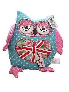 Spotty Fabric Owl Paperweight / Ornament