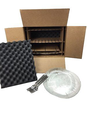 Kitchen Dish Pack Kit Lot Of 2 Moving Shipping Storage Box Holds 8 Plates 11