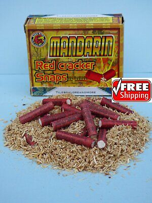 100 pc Adult Party Poppers 5 Boxes! Mandarin Red Party Cracker Snaps FREE - Party Boxes