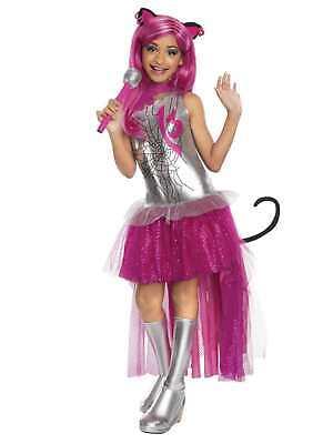 Girls Monster Halloween Costumes (Monster High Girls Catty Noir Halloween Costume Dress Up)