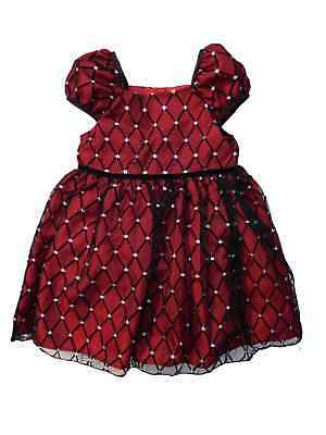 George Girls Red Burgundy Holiday Party Dress With Sparkl...