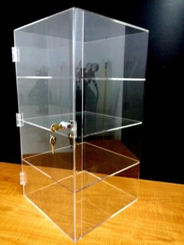 "305Displays 12"" x 12"" x 23"" Locking Security Showcase Safe Box Acrylic Counterto"