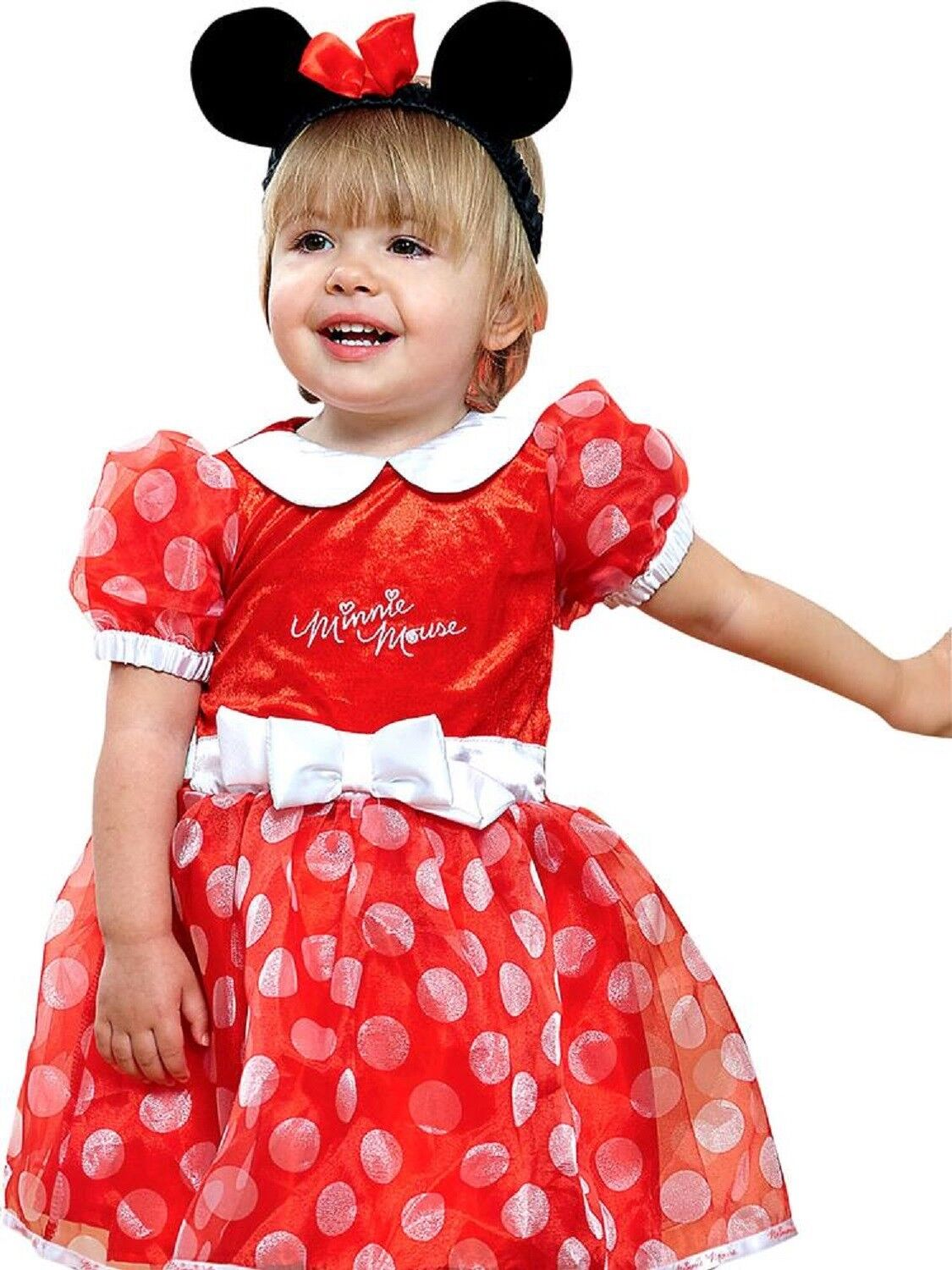 0412587aeefe Baby Girls Toddlers Disney Red Minnie Mouse Film Book Day Fancy Dress Outfit