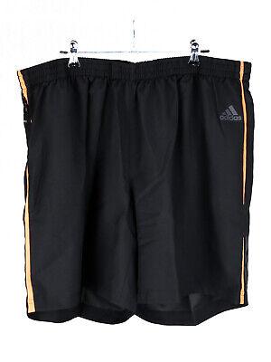 Adidas Herren Shorts Bermuda Hose Freizeithose Kordelzug Schwarz Orange XXL - Adidas Kordelzug Shorts