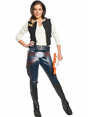 Han Solo Female Star Wars Classic Fancy Dress Up Halloween Sexy Adult (Sexy Han Solo Kostüme)
