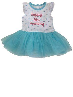 Infant & Toddler Girls White & Blue Tulle Tutu Bodysuit Sun Dress Sundress