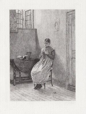 Allure Framed Art - Alluring Helen ALLINGHAM 1800s Antique Etching