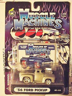 Muscle Machines 56 1956 Light Grey Hotrod Ford Pickup Truck Classic Made (Best Classic Pickup Trucks)