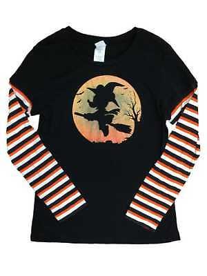 Disney Junior Halloween (Disney Junior Womens Black Minnie Mouse Witch T-Shirt Halloween)