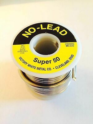 Victory No Lead 1 Pound Spool Super 50 Plumbing Lead Free Solder Lsf Roll