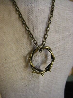 Crown of Thorns Necklace, Bronze , Easter Gift, Ships same day USA](Crown Of Thorns Necklace)