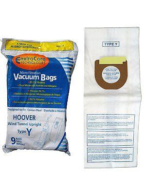- Hoover 43655109, 4010100Y, 856-9 Type Y Vacuum Bags Micro Filtration -- 9 Pk