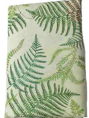 (Basic Vinyl Tablecloth With Fern Fronds Pattern, 52x70 Table Cloth)