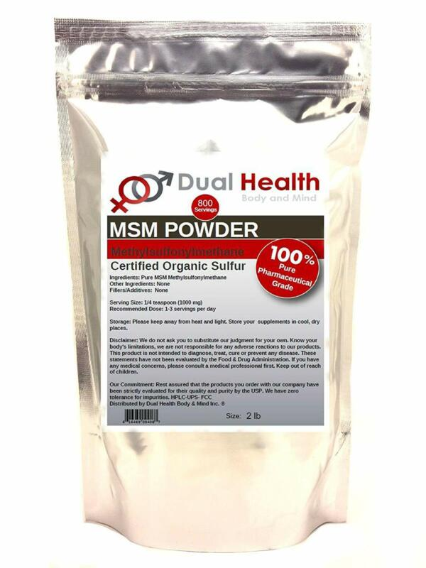 Pure MSM Sulfur Powder for Beauty and Bone and Joint Health (2 Lbs)