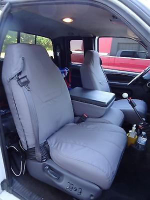 1998- 2001 Dodge Ram Quad Cab 1500-3500, Front Exact Fit Seat Covers in Gray