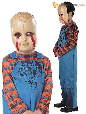 Boys Serial Killer Costume Evil Child Chucky Halloween Fancy Dress Horror Film