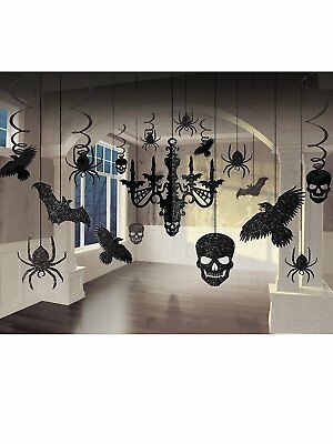 Glitter Haunted House Chandelier Halloween Trick or Treaty Party Decorating Kit