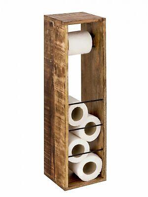 Premium Toilettenpapierhalter Toilettenpapierständer aus Mango-Holz handarbeit