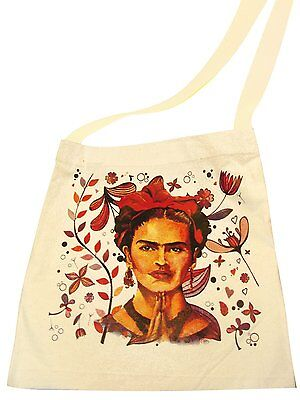 181 Mexico Frida Kahlo Market Cotton Tote Bag Printed Handbag Fair Trade Peru