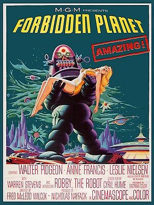 3492.The Forbidden Planet Sci-Fi Horror movie film POSTER.Room Home art decor