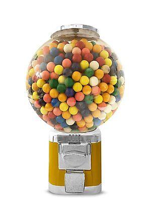 High Capacity Globe All Metal Bulk Vending Gumball Machine Yellow