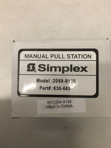 (NEW) SIMPLEX 2099-9138 - Weather Proof S/A Pull Station