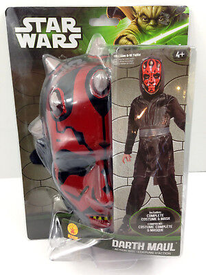 Darth Maul Dress Up (NEW STAR WARS Darth Maul Action Suit Mask Dress Up Role Play Costume Size 8-10)