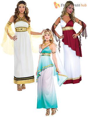Plus Size Toga Dress (Ladies Greek Toga Roman Grecian Goddess Fancy Dress Womens Costume Plus)