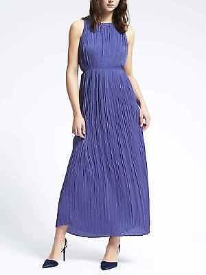 NWT Banana Republic Gathered Pleat Maxi Dress, Purple Crayon, sz M](Crayon Dress)