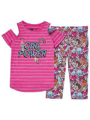Trolls Movie Girls Pink Poppy Girl Power Outfit Tank Top & Leggings Set - Pink Girl Movie