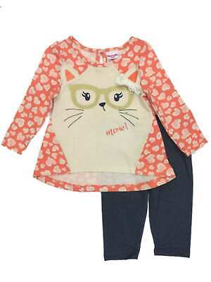 Toddler Girls Heart Hipster Kitty Cat With Glasses Shirt Jegging (Girls With Hipster Glasses)
