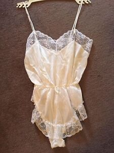White Teddy Lingerie Size Small