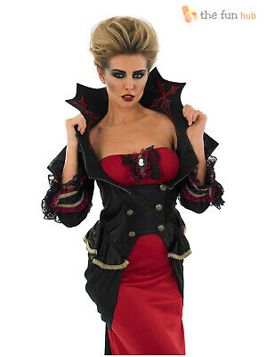 Ladies Halloween Fancy Dress Plus Sizes (Deluxe Ladies Vampire Costume Gothic Halloween Fancy Dress Womens Plus Size)