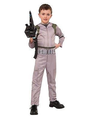 Boys Ghostbusters Halloween Costume Jumpsuit & Inflatable Proton Wand