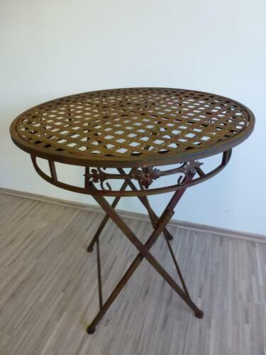 Gartentisch Klapptisch Beistelltisch Tisch Metall rund 70 cm WK071154
