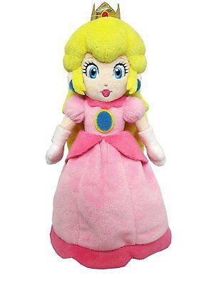 Super Mario Princess Peach (Super Mario Bros Mario Princess Peach Plush Doll Figure Soft Toy 7 inch)